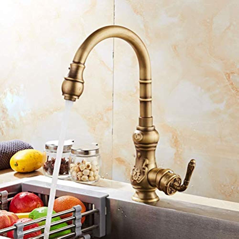 Wasserhahn Europische Küche rotierenden Wasserhahn Druck Spüle heien und kalten Wasserhahn Retro-Becken Wasserhahn