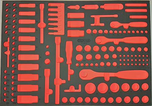 KS Tools Schaumstoffeinlage f. Steckschlüssel Satz Werkzeugwagen 815.1171-97