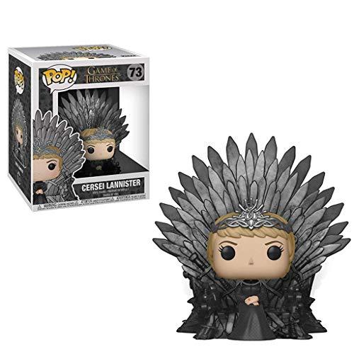 YYBB Pop TV: Juego de Tronos - Cersei Lannister Que se Sienta en el Trono de Hierro Modelo Figura de acción de la estatuilla y la Caja Colección Exquisita Decorativos Juguetes 5,9 Pulgadas Figurines