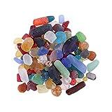 TEHAUX 1 paquete de piedras de cristal trituradas naturales con forma irregular de piedras de cristal para el hogar, para interior de pecera, grava ornamental (colorido, alrededor de 500 g)