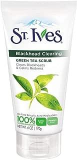 St. Ives Blackhead Clearing Face Scrub Green Tea 6 oz(Pack of 6)