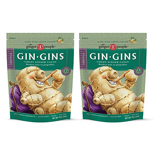 The Ginger People Gin Gins Original Chewy Ginger Candy 3 Oz (pack of 2) from The Ginger People