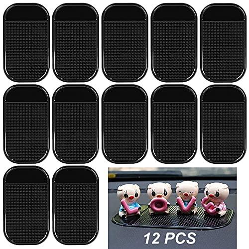 12 alfombrillas antideslizantes para el coche, para el salpicadero, para el salpicadero, para el salpicadero, para el salpicadero, adhesivo para el móvil, gafas de sol, llaves