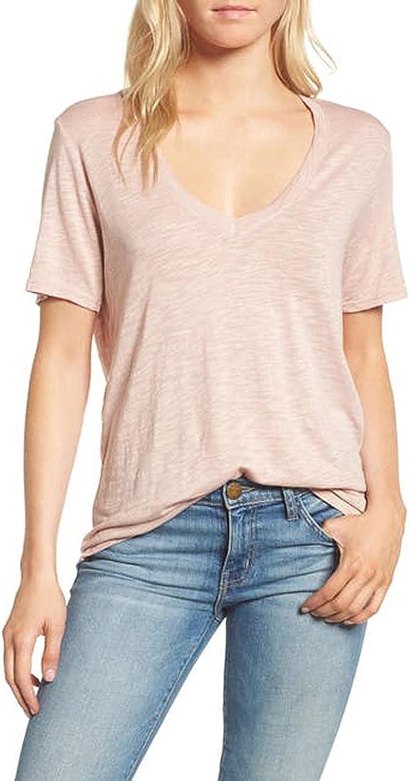 Splendid Women's Max 49% Super sale period limited OFF Short-Sleeve Tee T-Shirt V-Neck