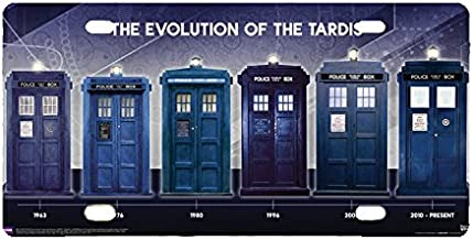Panda Doctor Who Evolution of the Tardis license frame custom Metal License Plate for Car Novelty license plate 12 inch X 6 inch