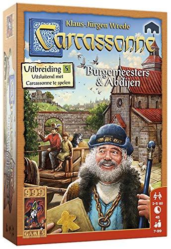 999 Games - Carcassonne: Burgemeesters en Abdijen Bordspel - Uitbreiding vanaf 7 jaar - Een van de beste spellen van 2016 - voor 2 tot 6 spelers - 999-CAR14N