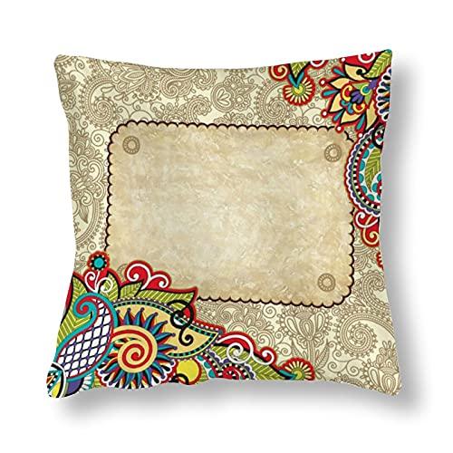 Funda de almohada de poliéster impresa en ambos lados, 55 cm x 55 cm