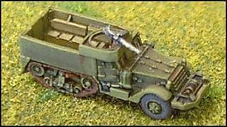 WWII Micro Armour - United States - Halftracks M3/M3A1 Halftrack