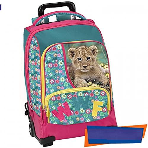 Panini Zaino Trolley Scuola Flowers WWF Girl 56784