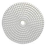 KingBra Almohadillas de pulido de granito húmedo con diamante de 18 cm grano 50-3000 para lijadora de hormigón, mármol, encimera, vidrio, cuarzo, pulido