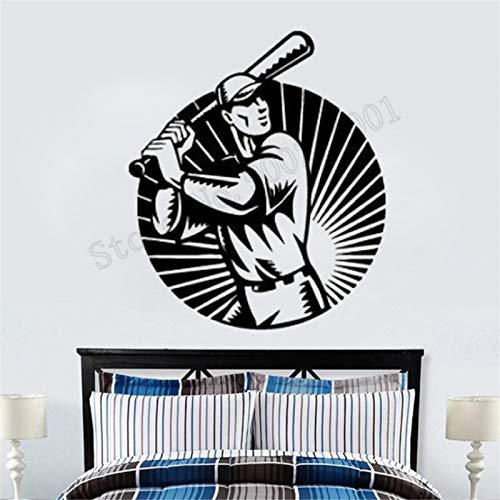 yaonuli Bat Ball Wanddekoration American Sports Baseball Dekoration Schönheit Moderne Turnhalle Wandbild Poster 102X120 cm
