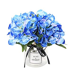 Veryhome Artificial Hydrangea Flowers Silk Bouquet for Party Wedding Home Decor