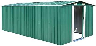 vidaXL Caseta de Jardín de Metal Verde 257x497x178cm Jardí