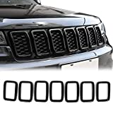 JeCar Grille Inserts ABS Grill Cover Trim Kit for 2017-2021Jeep Grand Cherokee WK2, Black