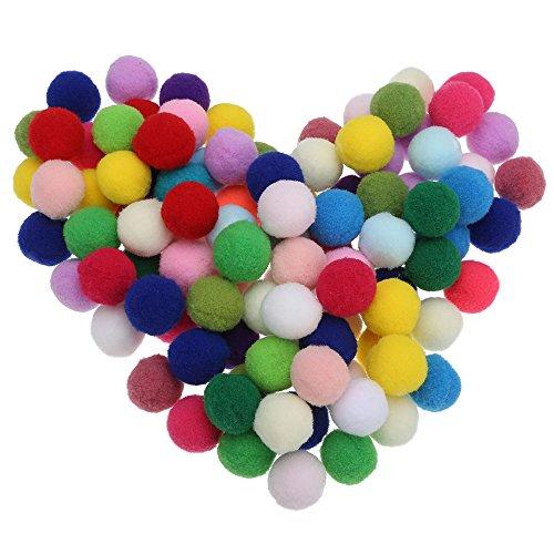 100pcs Pompones de Bola Pom Poms del Craft (3cm)