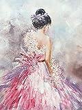 5D diamante bordado Ballet mujer completo cuadrado diamante pintura retrato imagen diamantes de imitación mosaico diamante pintura A7 50x70cm