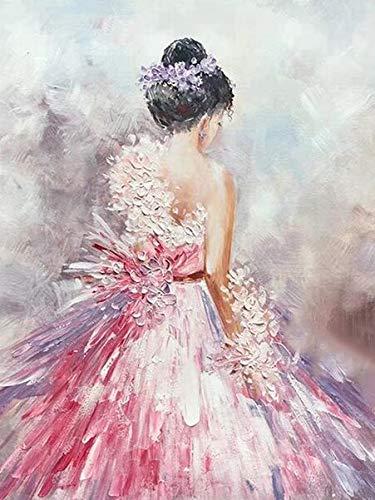 5D diamante bordado Ballet mujer completo cuadrado diamante pintura retrato imagen diamantes de imitación mosaico diamante pintura A7 45x60cm