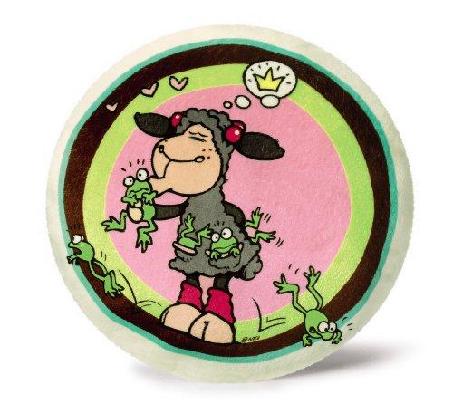 Nici 33825 - Kissen Lucy küsst Frosch rund, ø 26 cm