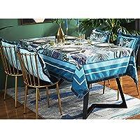 ヨーロッパの牧歌的なスタイルのテーブルクロス高品質の綿とリネン刺繍パターンユニバーサルカバータオル (Color : A, Size : 100*140CM)