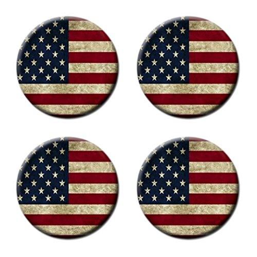 Crazy Bing Korkuntersetzer mit USA-Flagge, 4 Stück, r&, Untersetzer für Tasse, Dose, Wasserflasche
