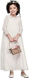 Crochet Lace Flower Girl Illusion Sheath Flower Girl/Communion Dress Style WG1387