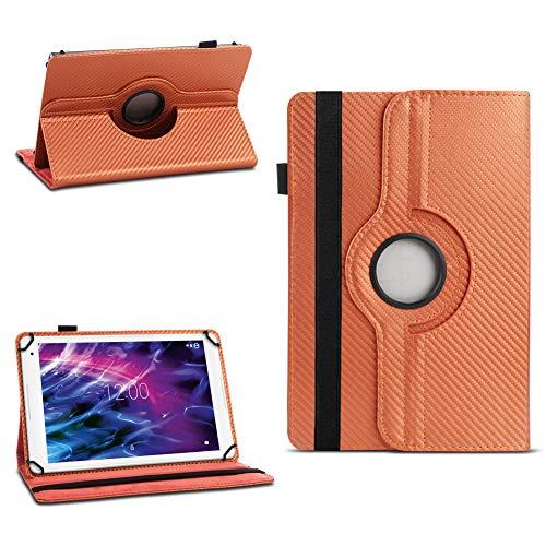 NAUC Hülle für Medion Lifetab P8502 Tablet Tasche Schutzhülle Cover Hülle 360° Drehbar, Farben:Bronze