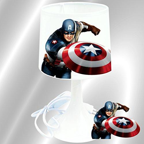 Captain America - Lampe de chevet de création Kikoucat - Lampe à poser enfant