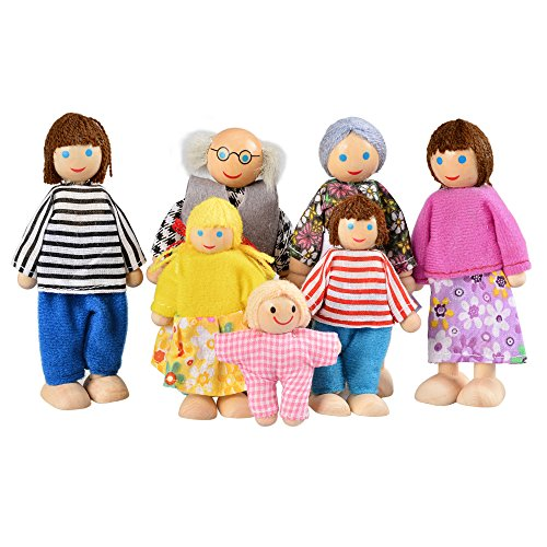 Puppenfamilie aus Holz