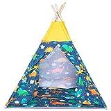 Extec Tipi-Zelt für Kinder, groß, drinnen und draußen, Spielzelt Dinosaurier-Spielhaus, Indisches...