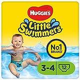 Huggies Little Swimmers, Pannolini da nuoto monouso, Taglia 3 - 4, Confezione da 3 x 12 pannolini