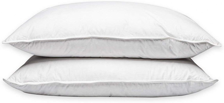 Pillowtex Luxury Down & Feather King Size Pillow Set  Firm