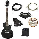 Gibson Innovations 6 String Maestro Single Cutaway Electric Pack, Black, Ebony, Full Size (MELPBKCH1)