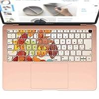 igsticker MacBook Air 13inch 2018 専用 キーボード用スキンシール キートップ ステッカー A1932 Apple マックブック エア ノートパソコン アクセサリー 保護 004755 フラワー 秋 紅葉 イラスト