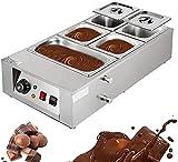 Qjkmgd Máquina eléctrica de la Olla de fusión del Chocolate, Calentador de Chocolate eléctrico de 5 Tanques, máquina de Calentamiento de Aislamiento térmico para Sopa de Queso de Chocolate