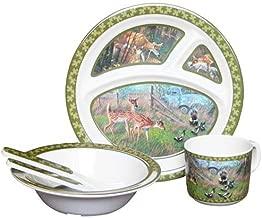Wild أجنحة تي شيرت للأطفال 5-piece ملامين مجموعة أدوات المائدة تتميز Deer