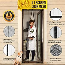 Magnetic Screen Door with Magnets I Premium Magnet Curtain with Mesh & Mosquito Screens I Bug Net for Doors [Upgraded 2018...
