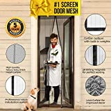 BARGAIN ITEM (NO free gift as MISPRINT on box) Magnetic Screen Door with Magnet Closure & Velcro 40 x 82 I Doorway Mosquito Curtain Cover Netting | Pet & Dog Friendly Patio / Front Bug Mesh Insect