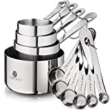 Stainless Steel Measuring Cups and Spoons Set - Heavy Duty measuring cups and spoons set stainless...