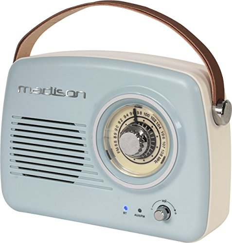 Freesound - VR30 - Madison - Radio Vintage con Bluetooth (30 W, USB) Color Azul