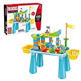 Building Block Toys Table for Toddlers,Marble Run Building Activity...