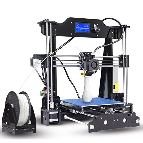 ZHQEUR Stylo d'impression 3D X8 Imprimante 3D Haute Qualité Précision Haute Vitesse Grand Imprimantes 3D Pas Cher Kit Impresora Acrylic Frame Imprimante 3D