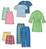 New Look Sewing Pattern 6847 Child Sleepwear, Size A (3-4-5-6-7-8)