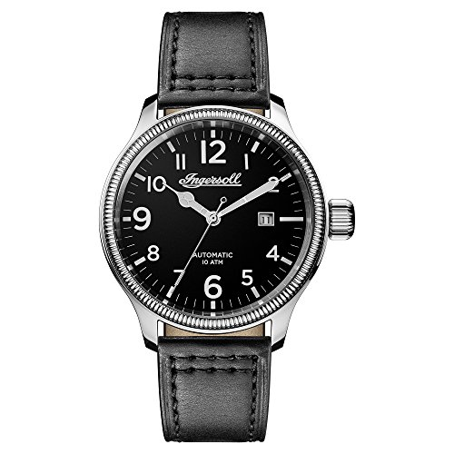 Ingersoll Herren Analog Automatik Uhr mit Leder Armband I02701
