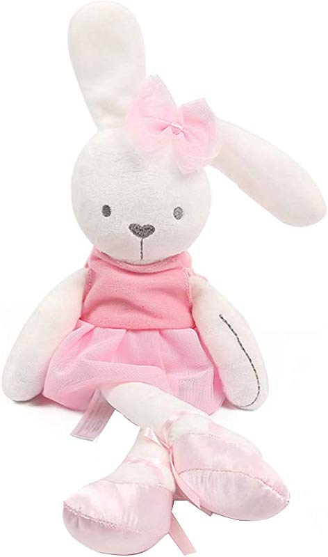 Cartoon Soft Rabbit Plush Toy Pillow Pet Stuffed Animal Doll Child Pet Hugging Pillow Pink