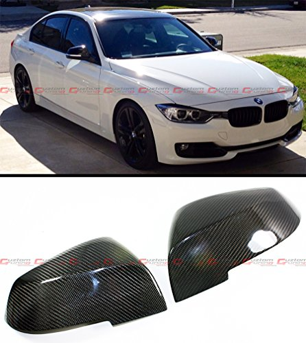 Cuztom Tuning 1:1 Direct Replacement Real Carbon Fiber Mirror Covers Cap Fits for 2013-2018 BMW E84 F20 F22 F30 F32 F33 F Chassis