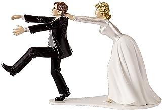 "Wilton Oh No You Don't Wedding Cake Topper Figurine, 6.3"" W x 4.25"" H"