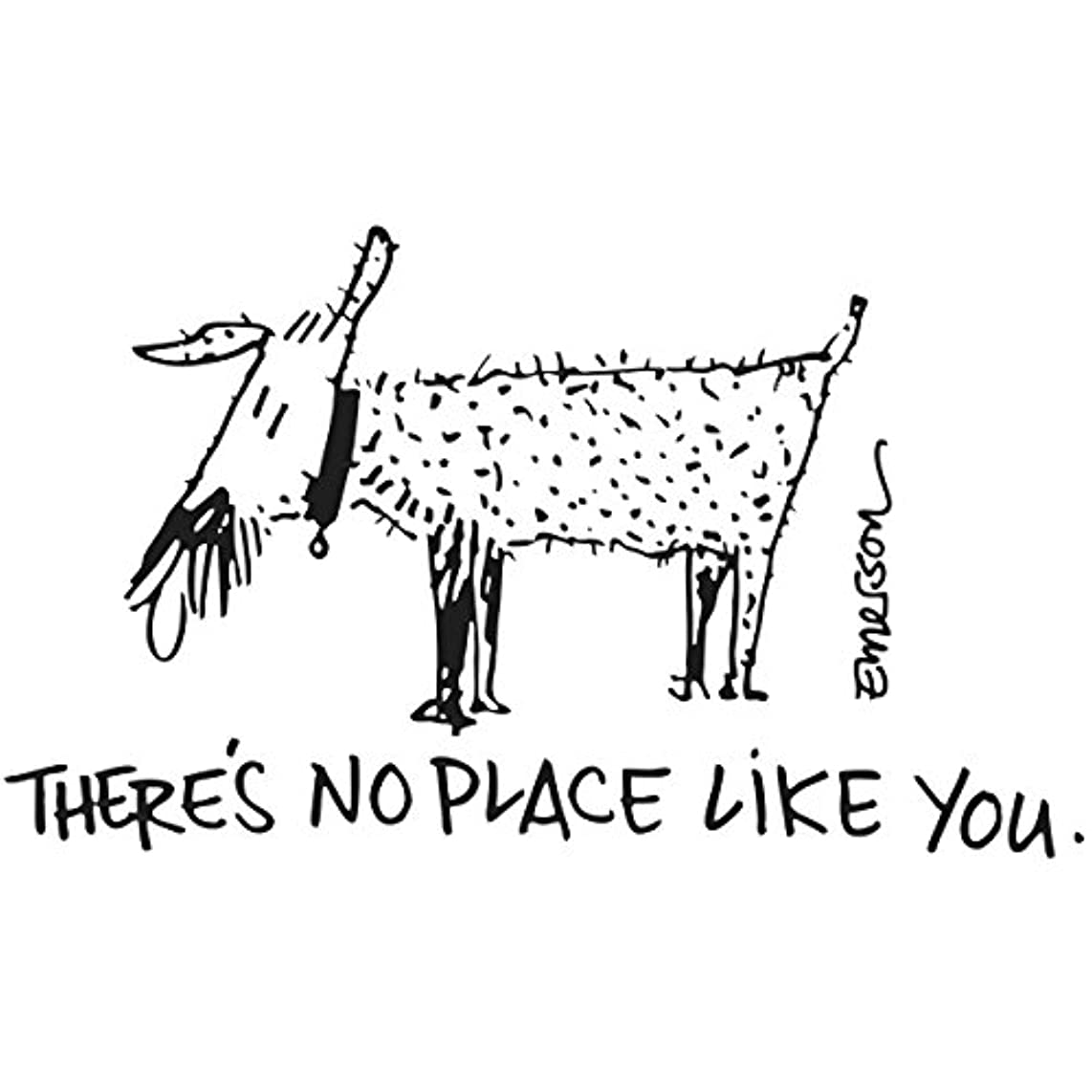 Gourmet Rubber Stamps Cling Stamps 2.75x4.75-There'S No Place Like You