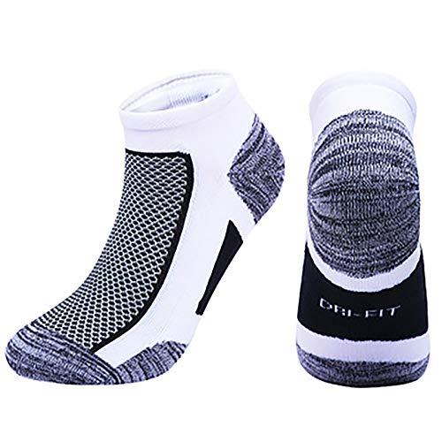 Vobery Calcetines para Correr para Hombres,Mujeres,Tobillo,Calcetines Deportivos,Calcetines Deportivos de Corte Bajo,Calcetines Deportivos Acolchados (Negro,XL)