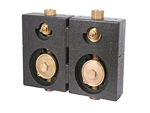 Schlösser Wasserzähler Montageblock Duo 3/4
