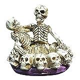 DZXCB Víspera De Todos Los Santos Cráneo Cenicero Tabaco Escultura Estatua Decoración Cráneo Casa Oficina Bar Ornamento Artesanía